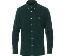 Regular Fit Kordhemd Tartan Green