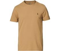 Custom Slim Fit Rundhalsausschnitt Tshirt Luxury Tan
