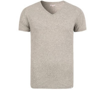 OB V-Neck Tshirt Grey Melange