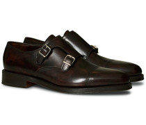 William Monkstrap Dark Brown Calf