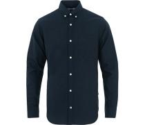 Levon Buttondown Oxfordhemd Navy Blue
