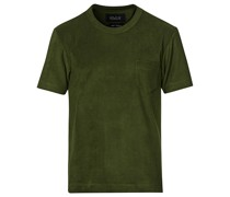 Fons Baumwoll Blend Terry Pocket Tshirt Dark Green