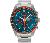 Solar Chronograph 43mm Steel/Light Blue Dial