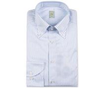 1899 Slimline Buttondown Streifenhemd White/Blue