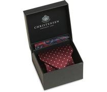 Box Set Silk 8 cm Paisley Krawatte und Einstecktuch Win