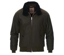 G9 Padded Waxed Eco Fur Collar Jacke Deep Moss