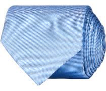 Silk Basket Weave Krawatte Light Blue
