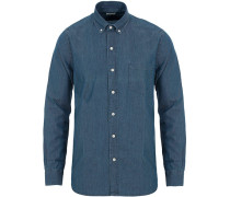 Buttondown Jeanshemd Washed Blue