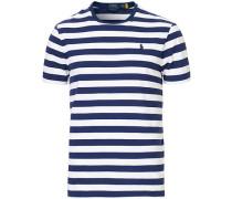 Custom Slim Fit Stripe Tshirt Navy/White