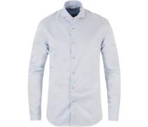 Slimline Washed Baumwoll Plain Hemd Light Blue