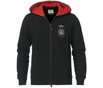 Full Zip Hooded Sweatshirt Jet Black