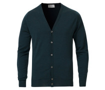 Petworth Extra Fine Merino Cardigan Racing Green