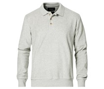 Longsleeve Terry Polo Med Grey
