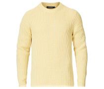 Remus Woll/Baumwoll Rundhals Yellow