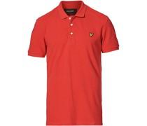 Plain Pique Polohemd Gala Red