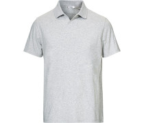 Soft Lycra Polo Tshirt Light Grey Melange