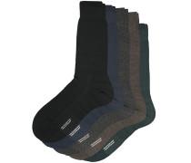 5-Pack Naish Merino/Nylon Socke Navy/Black/Charcoal/Chocolate/Racing Gr