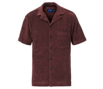 Relaxed Fit Kurzarm Terry Hemd Wine