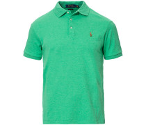 Slim Fit Luxury Pima Baumwoll Polo Green Heather