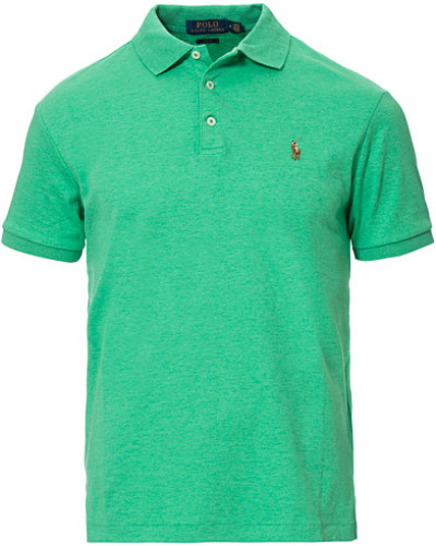 Custom Slim Fit Luxury Pima Baumwoll Polo Green Heathe