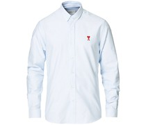 Heart Logo Oxfordhemd Navy/White
