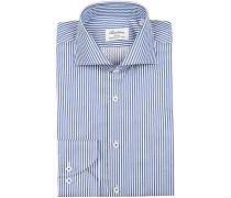 Slimline Streifenhemd Blue/White