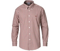 Regent Fit Non Iron Oxfordhemd Brown Check