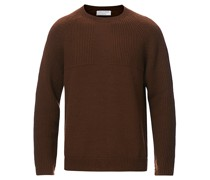 Yogi Rundhals Strickpullover Golden Brown