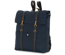 M/S Nylon Rucksack Navy Dark Brown