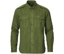 Military Baumwoll Überhemd Olive