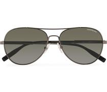 MB0027S Meisterstück Sonnenbrille Ruthenium/Grey
