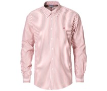 Regent Fit Non Iron Oxfordhemd Red Stripe