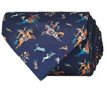Printed Silk Twill Moghul 8 cm Krawatte Navy