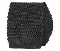Stricked Silk Krawatte 6 cm Black