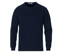 Brushed Woll/Kaschmirsweater Navy