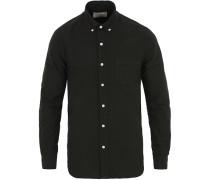 Dyed Oxfordhemd Black
