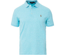Slim Fit Luxury Pima Baumwoll Polo Aqua Heather