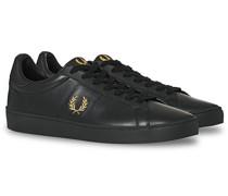 Spencer Ledersneaker Black/Gold
