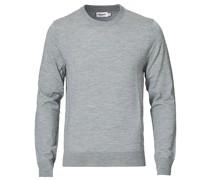 Merino Round Neck Pullover Grey Melange