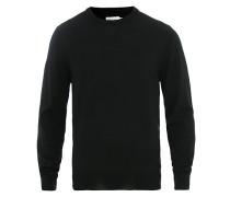 Merino Round Neck Pullover Black