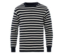 Fouesnant Classic Pullover Navy/Nature
