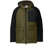 Padded Hood Jacke Verde Medio/Black