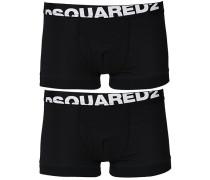 2-Pack Baumwoll Stretch Boxershort Black