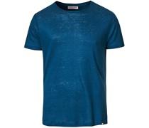OB Leinen Tshirt Blue Slate