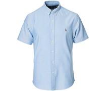 Slim Fit Oxford Kurzarm Hemd Light Blue