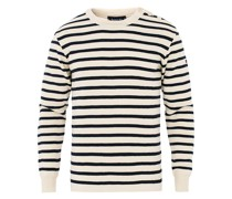 Fouesnant Classic Pullover Nature/Navy