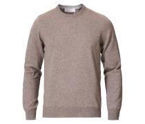 Woll/Cashmere Rundhals Brown