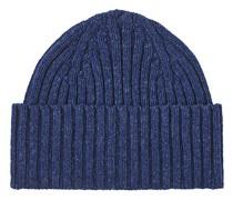 LambsWoll Strick Hut/Mütze Blue