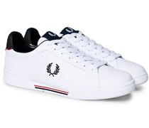 B722 Leder Sneaker White/Navy