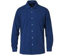 Baumwoll Stretch Jerseyhemd Dark Blue